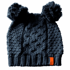 Double Bobble Knit Hat Navy