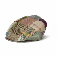 Hanna Hats Patchwork Tweed Tailor Cap