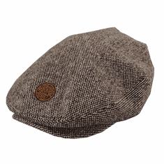 Patrick Francis Brown Tweed Flat Cap