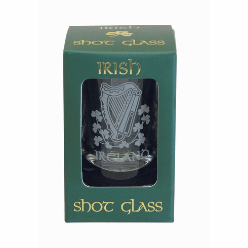 Harp Shamrock Shot Glass