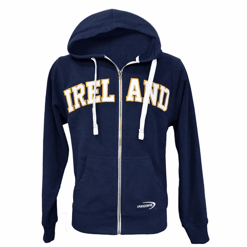 Ireland Fleece Navy Zip Hoodie