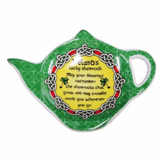 Ireland's Lucky Shamrock Teabag Holder