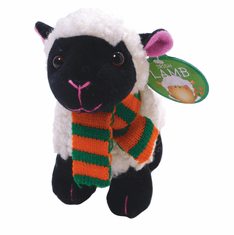 Irish Black Lamb With Scarf Soft Toy