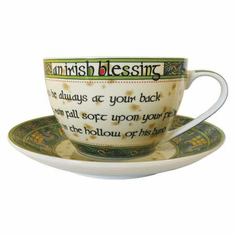 Irish Blessing Cup with Saucer
