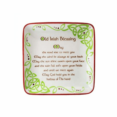 Irish Blessing Square Dish
