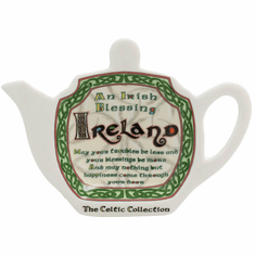 Irish Blessing Tea Bag Holder