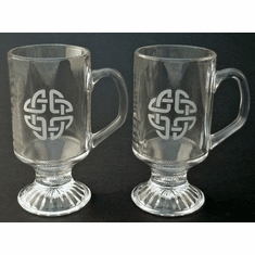 Irish Coffee Celtic Knot Mugs ( set of 2 )