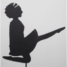 Irish Dancer Silhouette Garden Stake