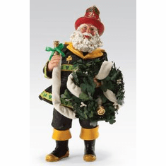 Irish Fireman Rescue Santa.  Department 56