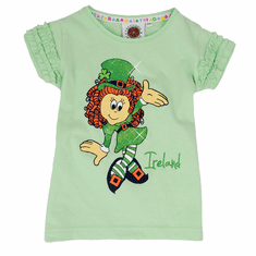 Irish Girl Leprechaun Frill T-Shirt