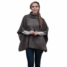 Irish Patchwork Aran Knit Cowl Cape