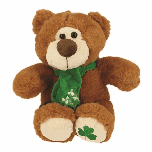 Irish Teddy Bear with Scarf