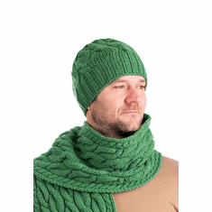Irish Wool Cable Knit Hat for Men