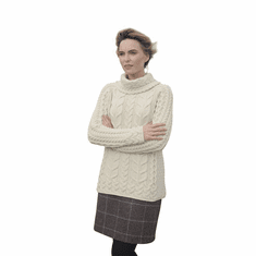 Irish Wool Cowl Neck Sweater