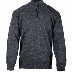 Irish Wool Half Zip Sweater