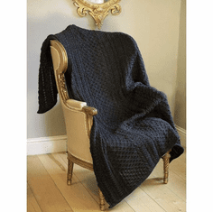 Irish Wool Honeycomb Throw Charcoal
