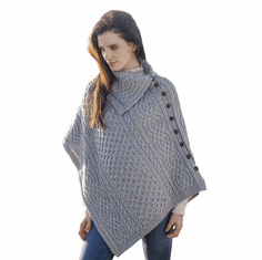 Irish Wool Knit Poncho