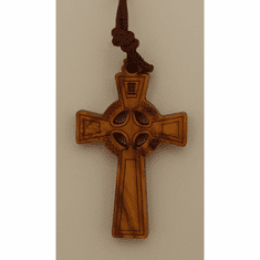Italian Olive Wood Celtic Cross Pendant