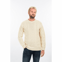 Men's Irish Aran Crew Neck Sweater