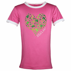 Kids Ireland Shamrock Heart T-Shirt