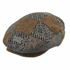 Patrick Francis Kids Patchwork Tweed Cap