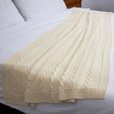 Knitted Double Cable Throw