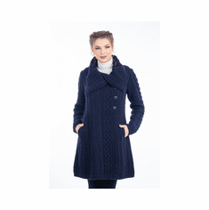 Ladies 3 Button Collar Coat