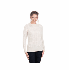 Ladies Cable Crew Neck Sweater
