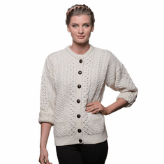 Ladies Crew Cardigan - Made from Merino Wool