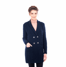 Ladies Double Breasted Shawl Collar Coat