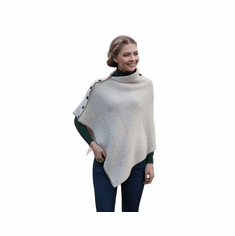 Ladies Herringbone Irish Poncho