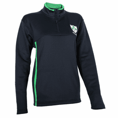 Ladies Rugby Shamrock 1/4 Zip Mock Neck