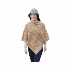 Ladies Plaited Poncho Sweater