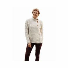 Ladies Super Soft Trellis and Cable Cardigan