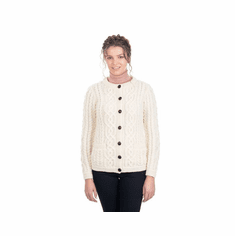 Ladies Traditional Aran Cardigan