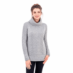 Ladies Turtleneck Knit Sweater