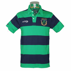 Lansdowne Emerald/Navy Ireland Striped Polo Shirt