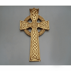 "Large Celtic Wall Cross / ""IHS"" center"