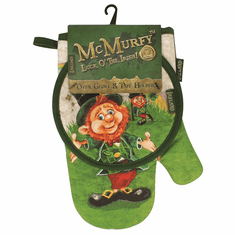 McMurfy Oven Glove with Pot Holder