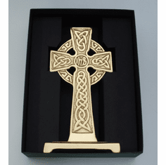 Medium Bronze Standing IHS Celtic Cross