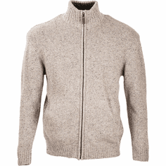 Men's Full Zip Sweater Irish Aran Knit