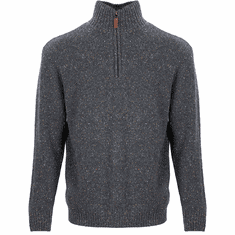 Men's Half Zip Sweater Irish Aran Knit