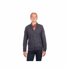 Men's Irish Aran Shawl Neck Cardigan