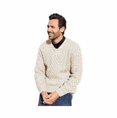 Men's Irish V-Neck Sweater