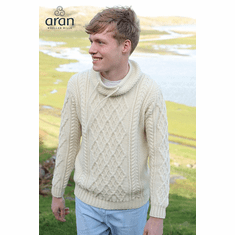 Men's Merino Wool Sweater with Drawcords
