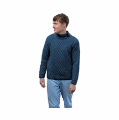 Men's Sweater with Button Collar