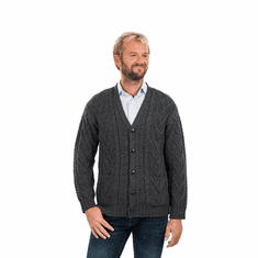Men's Traditional Irish V Neck Cardigan
