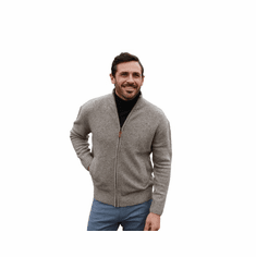 Men's Full Zip Troyer Sweater