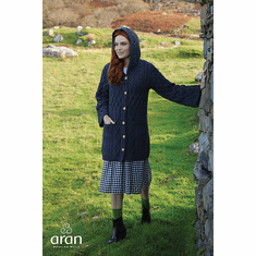 Merino Ladies Long Cardigan with Hood