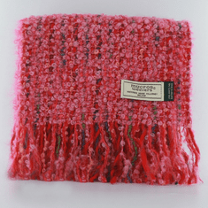 Mucros Weavers Red Irish Scarf of Mohair and Viscose